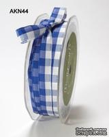 Лента SOLID/CHECK, цвет ROYAL BLUE/WHITE, ширина 9,5мм, длина 90см