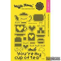 Силиконовый штамп от Waffle Flower - Stitched Cup of Tea Stamp Set
