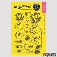 Силиконовый штамп от Waffle Flower - Stitched Roses Stamp Set