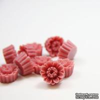 """Кабошон """"Цветок"""", цвет розовой розы, размер 14 мм, 1 шт."""