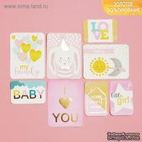 Набор карточек для творчества с фольгированием от АртУзор -  Little baby, 10 х 10.5 см