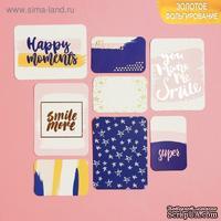 Набор карточек для творчества с фольгированием от АртУзор -  Happy moments, 10 х 10.5 см