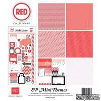 Мини-набор бумаги от Echo Park - Red, Mini Theme, 6+1 листов, 30х30 см, SW3305