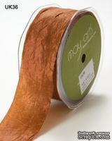 Шебби-лента SILKY/CRUSH, цвет RUST, ширина 38мм, длина 90см