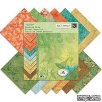 Набор бумаги от K&Company  - Susan Winget Nature Paper Pad, 12 листов, 30x30см