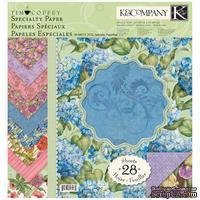 """Набор бумаги от K&Company - """"Сад (спец. эффекты)"""" , размер: 31х31см, 14 листов"""