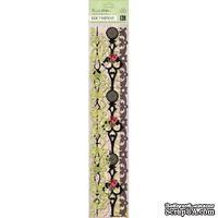 """Набор самоклеющих бумажных ленточек от K and Company - """"Пергаментная флора и фауна"""", 30 см"""