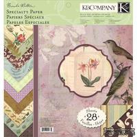 """Набор бумаги от K&Company - """"Флора и фауна (спец.эф.)"""", размер: 31х31 см, 14 листов"""