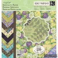 """Набор бумаги от K and Company - """"Яркий мир растений"""", размер: 31х31 см"""