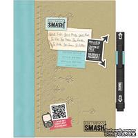 Книга для записей от K&Company - Retro Blue SMASH Folio, размер: 19,7х26,1 см.