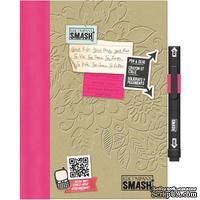 Книга для записей от K&Company - Pretty Pink Smash Folio, размер: 19,7х26,1 см.