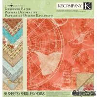 Набор бумаги: Путешествие, 12 листов от K&Company
