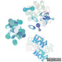 Набор для декорирования от Darice - пайетки и конфетти - Confetti Pink Baby Shower/Boy