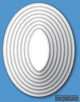 Ножи от Memory Box - Stitched Oval Layers craft die - ScrapUA.com