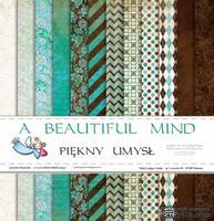 Набор бумаги Galeria Papieru - Piękny umysł - A Beautiful Mind, 30,5 x 30,5 см, 12 листов