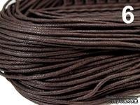 Вощеный шнур Chocolate Brown, 1,5 мм, цвет шоколадный, 5 метров