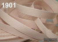 Саржевая лента, ширина 10мм, цвет бежевый кремовый, 90см