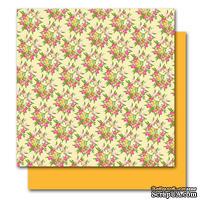 Двусторонний лист картона от American Crafts - Evelyn, Botanique, 30x30 см, 1 шт.
