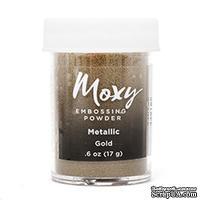 Пудра для ембоссинга Moxy Metallic Goldот American Crafts, золотая, 17 г