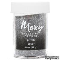 Пудра для ембоссинга Moxy Glitter Silver от American Crafts,  17 г