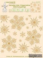 Папка для тиснения от LeCreaDesign - Embossing folder snowflakes background
