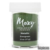 Пудра для ембоссинга Moxy Metallic Evergreen от American Crafts, 17 г