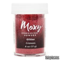 Пудра для ембоссинга Moxy Glitter Crimson от American Crafts, 17 г