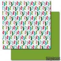 Двусторонний лист картона от American Crafts - Tidings & Tins, Dear Lizzy Christmas, 30х30 см, 1 шт.