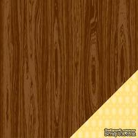 Двусторонний лист картона от American Crafts - Cedar River Trail, Campy Trails, , 30х30 см, 1 шт