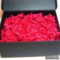 Наполнитель-стружка для подарочных коробок, цвет малиновый, 1,5 дм³