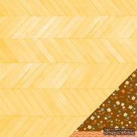 Двусторонний лист картона от American Crafts - Lunch Break, 30х30 см, 1 шт.