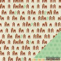 Двусторонний лист картона от American Crafts - Get Cozy, 30х30 см, 1 шт.