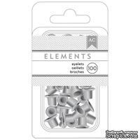"""Люверсы от American Crafts - Silver 1/8"""", 100 шт - ScrapUA.com"""