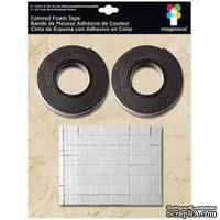 Двусторонняя объемная лента и квадратики, черная