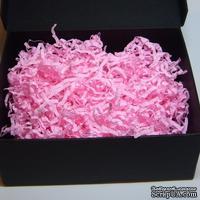 Наполнитель-стружка для подарочных коробок, цвет розовый, 1,5 дм³