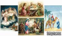 Двусторонний лист с картинками от Galeria Papieru, 5х30см, Рождество 3, 1 шт. - ScrapUA.com