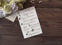 Чипборд от WOODchic - Набор надписей для детского альбома для девочки (укр. язык)