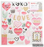Высечки из чипборда от Crate Paper - Heart Day Collection - 30x30 см