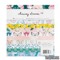 Набор односторонней скрапбумаги для скрапбукинга от Crate Paper - Chasing Dreams, 15x15см, 36 листов