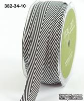 Лента Twill and Stripes,  NAVY, цвет синий/белый, ширина 1,9 см, длина 90 см