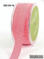 Лента - TWILL/STRIPES - красный, ширина - 19 мм, длина 90 см