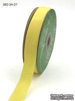 Лента Twill and Stripes, цвет желтый/белый, ширина 1,9 см, длина 90 см