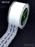 Кружево, ширина 30 мм, цвет белый, 90 см