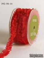 """Ленточка """"Бантовая складка"""", цвет красный, ширина 16мм, длина 90 см"""