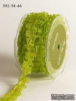 """Ленточка """"Бантовая складка"""", цвет салатовый, ширина 16 мм, длина 90 см"""