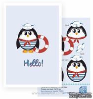 Набор №31 для создания 3D-открытки от Евгения Курдибановская ТМ, Пингвинчик Hello 15х20см