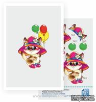 Набор №39 для создания 3D-открытки от Евгения Курдибановская ТМ, Кошечка с шариками, 15х20см
