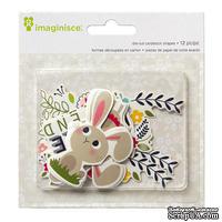 Высечки картонные от Imaginisce - Welcome Spring Bunny