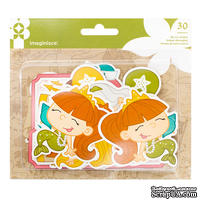Висечки картонные от Imaginisce - Mermaid, 30 шт