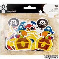 Висечки картонные от Imaginisce - Pirate, 30 шт